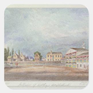 View of Astley's Amphitheatre, 1777 Square Sticker