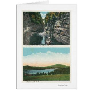 View of Ausable Chasm and Saranac Lake Card