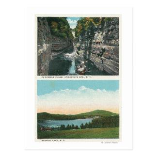 View of Ausable Chasm and Saranac Lake Postcard
