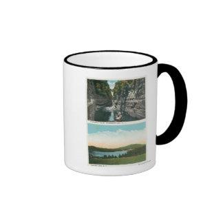 View of Ausable Chasm and Saranac Lake Ringer Mug