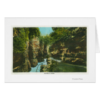 View of Ausable Chasm Greeting Card