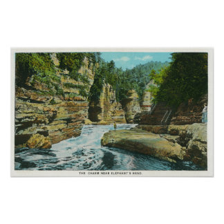 View of Ausable Chasm near Elephant's Head Poster