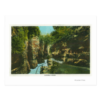 View of Ausable Chasm Postcard
