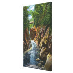 View of Ausable River Falls and Bridge Stretched Canvas Prints