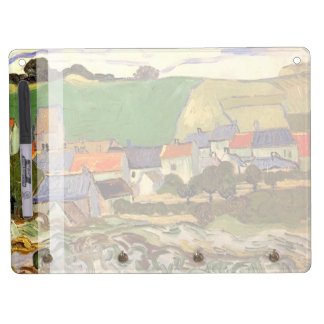 View of Auvers by Van Gogh Dry Erase Board With Keychain Holder
