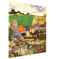 View of Auvers Vincent van Gogh. Stretched Canvas Print