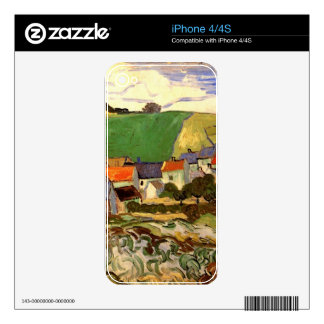 View of Auvers Vincent van Gogh iPhone 4S Skin