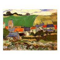 View of Auvers Vincent van Gogh Post Card