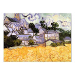 View of Auvers with Church by Vincent van Gogh Invitations