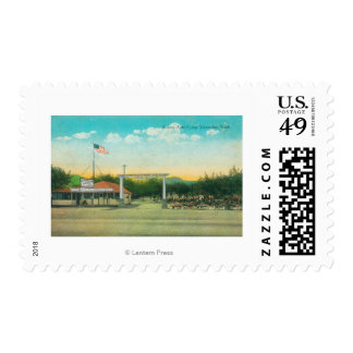 View of Avenue Auto Camp Entrance Postage
