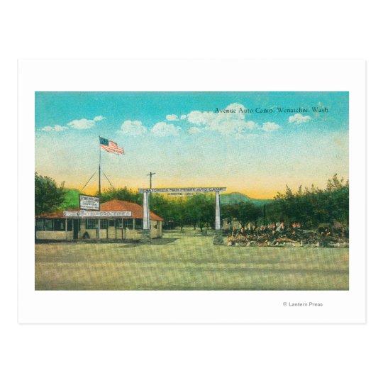 View of Avenue Auto Camp Entrance Postcard
