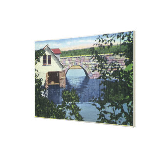 View of Back Bay Bridge Stretched Canvas Prints