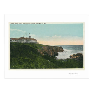 View of Bald Head Cliff & Exterior of Cliff Hous Postcard