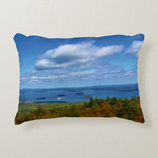 View Of Bar Harbor Decorative Pillow
