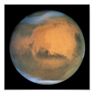 View of Barsoom, or Mars Poster