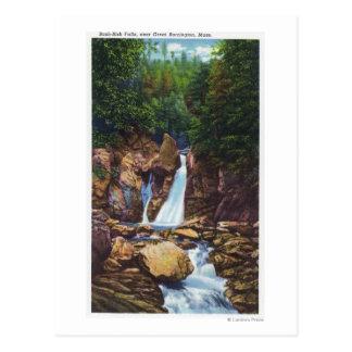 View of Bash-Bish Falls near Great Barrington Postcard