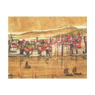 View of Baynards Castle Canvas Print