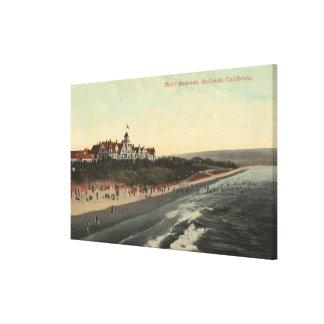 View of Beach & the Hotel Redondo Canvas Print