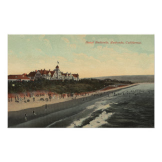 View of Beach & the Hotel Redondo Poster