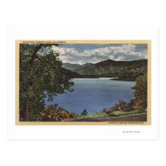 View of Beautiful Shasta Lake Postcard
