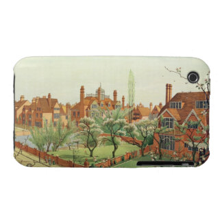 View of Bedford Park, 1882 (colour litho) 2 Case-Mate iPhone 3 Cases