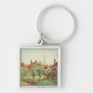 View of Bedford Park, 1882 (colour litho) 2 Key Chain