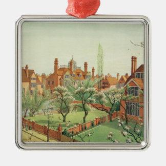 View of Bedford Park, 1882 (colour litho) 2 Metal Ornament