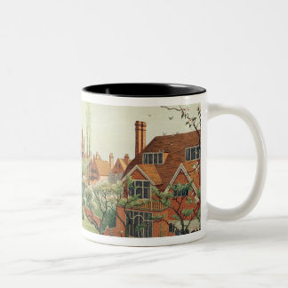View of Bedford Park, 1882 (colour litho) 2 Two-Tone Coffee Mug