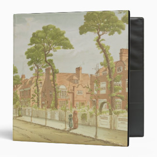 View of Bedford Park, 1882 (colour litho) Binder