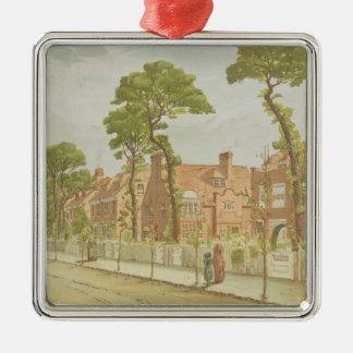 View of Bedford Park, 1882 (colour litho) Metal Ornament