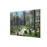 View of Ben Franklin's Tombstone Gallery Wrapped Canvas