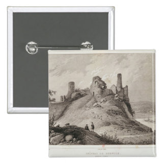 View of Berwick Castle Pinback Buttons