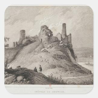View of Berwick Castle Square Sticker