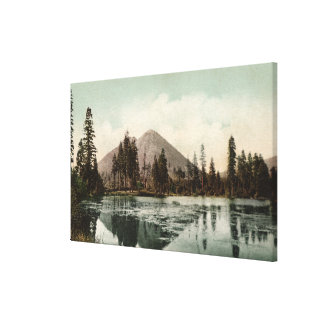 View of Black Buttes Along Shasta Route Gallery Wrapped Canvas