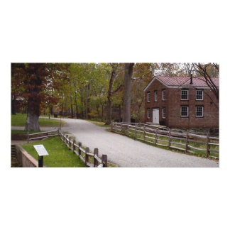 View of blacksmith & trail at Allaire State Park Card