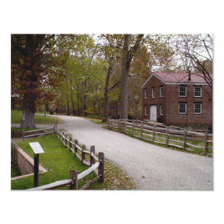 View of blacksmith & trail at Allaire State Park 4.25x5.5 Paper Invitation Card
