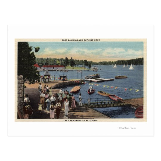View of Boat Landing, Bathing Cove Postcard