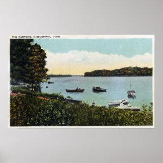 View of Boats at the Narrows Poster