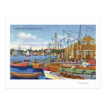 View of Boats in the Harbor Post Card