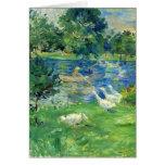 View of Bois de Boulogne by Berthe Morisot Cards