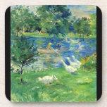 View of Bois de Boulogne by Berthe Morisot Drink Coasters