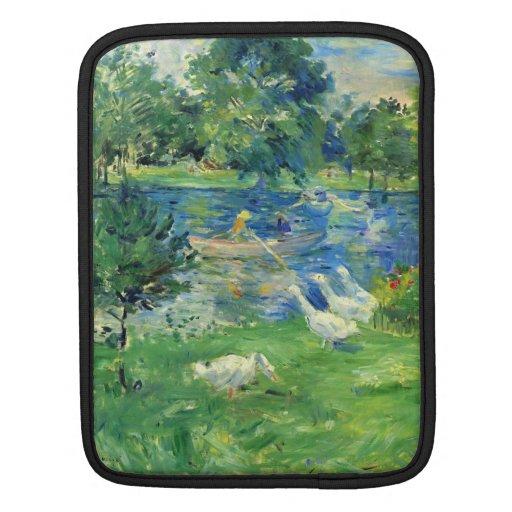 View of Bois de Boulogne by Berthe Morisot iPad Sleeve