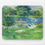 View of Bois de Boulogne by Berthe Morisot Mousepad