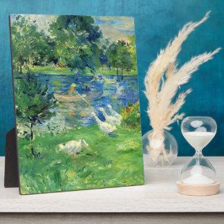 View of Bois de Boulogne by Berthe Morisot Plaque
