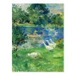 View of Bois de Boulogne by Berthe Morisot Post Card