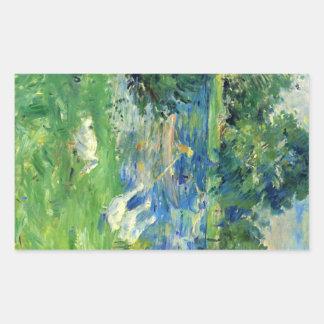 View of Bois de Boulogne by Berthe Morisot Rectangular Sticker