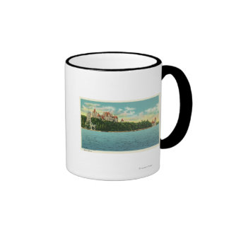 View of Boldt Castle Ringer Mug