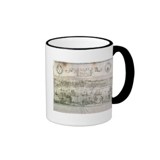 View of Bordeaux and the river Garonne, signed by Coffee Mug