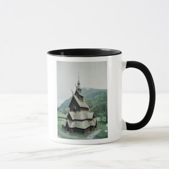 View of Borgund stave church, c.1150 Mug