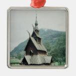 View of Borgund stave church, c.1150 Ornaments